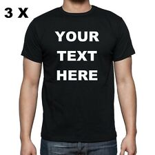 3 !! NEW Custom Personalized T Shirts -print your TEXT on front  -bussines- club