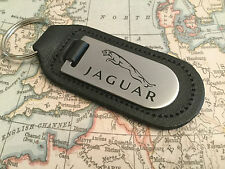 JAGUAR Key Ring Etched and infilled On Leather XF XJ XK F TYPE