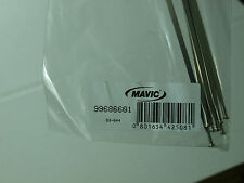 (1) New Mavic Ksyrium Elite Non Drive Side Silver Spoke 2009-10 301mm 99686601