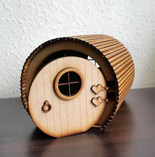 Handmade Fairy Hobbit House 3D opening Elf Wooden Laser Cut Fairies Pixies