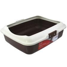 New Rect Portable Cat Toilet Litter Box Tray With Rim
