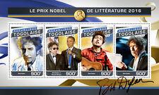 Togo 2016 Bob Dylan Nobel Prize Barack Obama S/S TG16516a