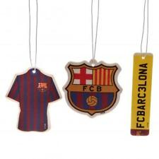 Fc Barcelona 3pk Air Freshener Football Shirt Crest Logo Number Plate Car Smell