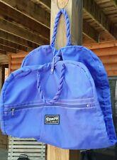Verdi Romps Garment Bag Travel Carrier Large Purple Folding Twist Handle