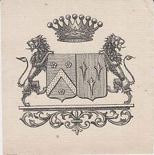 Ex-libris Francis DOÉ (1866-1936) Troyes (Aube) Conservateur des Eaux et Forêts.