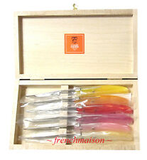 CLAUDE DOZORME Laguiole French 6 STEAK KNIFE Berlingot Christmas Gift Box Set