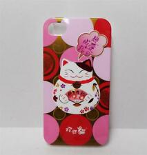 Beautiful 3D Maneki Neko Lucky Cat Iphone 4 / 4S Plastic Case Cover Pink