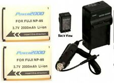 TWO 2 NP-85 Batteries + Charger for Fuji FujiFilm SL240 SL260 SL280 SL300 SL305