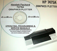 HP 7475A GRAPHICS PLOTTER Operating, Programming & Service  Manuals (3 volumes)