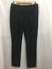 Cue Size 6 Fits Size 8 Black Lime Pin Striped Dress Pants