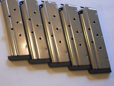 """1911 .40 cal. mag, magazine,mags, 1/4"""" removable base  5 mags,9 shot, stainless"""