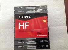 Sony 10 Pack Audio Cassette HF 90 Min New Sealed High Fidelity Normal Bias,music