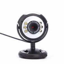 New USB 6 LED Video Camera Webcam With Mic Microphone For PC Laptop Computer