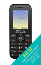 Alcatel One Touch 10.16G & ee sim préchargé avec £ 10 international pack