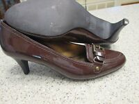 MOOTSIES TOOTSIES Womens Shoes Size 7 1/2 DARK BROWN PATENT LEATHER PUMPS NWOT