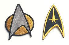 2er Set Star Trek Bestickt Flicken, nähen oder zum aufbügeln