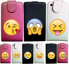 CUSTODIA COVER CASE ECO PELLE EMOTICON WHA PER SAMSUNG GALAXY S3 MINI i8190