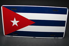 CUBA FLAG METAL ALUMINUM CAR LICENSE PLATE TAG