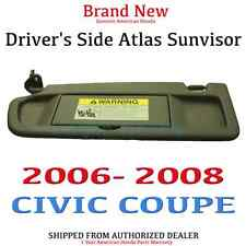 2006-2008 CIVIC COUPE Genuine OEM Driver's Side Dark Atlas Gray NH598L Sunvisor