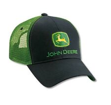 JOHN DEERE *BLACK & GREEN* Twill Mesh CAP HAT *BRAND NEW w/Tags!*