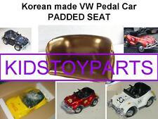 VINTAGE PADDED SEAT FOR VW VOLKSWAGEN BEETLE BUG PEDAL CAR