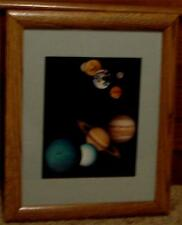 Nice Framed and Matted Print of Our Solar System, VERY GOOD CONDITION