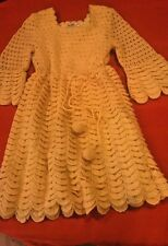 Unique One of a Kind Women Vintage Hand-Knitted Crochet Dress ~ Made in Greece