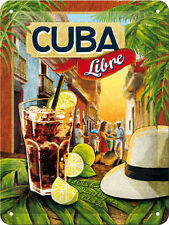 Cocktail-Time - Cuba Libre  Blechschild 15x20 cm Nostalgic-Art 26143