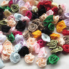 U pick 500/100pcs Satin Ribbon Flower Rose craft/wedding appliques Lots