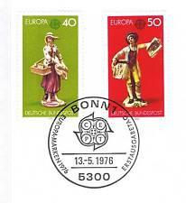 BRD 1976: Europamarken Kunsthandwerk Nr. 890+891 mit Bonner Sonderstempel 1A 153