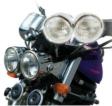 "4"" Chrome Dominator Motorcycle Headlight Dual Streetfighter Cafe Racer w/ Mount"