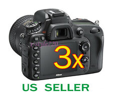 3x Clear LCD Screen Protector Guard Film For Nikon D600 Digital SLR Camera