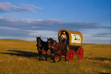 585082 Chuckwagon On The Prairie A4 Photo Print