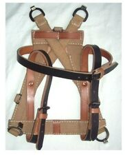 WW2 German Army A-FRAME With BLACK LEATHER STRAPS - Repro Webbing Canvas Kit