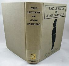 The Letters Of John Fairfield 1922/Limited Edition No. 256 Of 700/Maine Governor