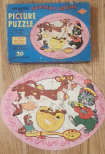 Vintage Built Rite Shaped Puzzle Nursery Rhyme 30 Pieces