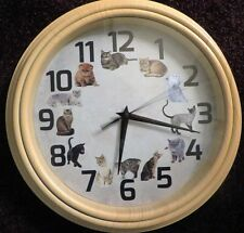 "12"" WALL CLOCK  12 CATS  * GREAT GIFT FOR YOUR FAVORITE CAT LOVER! *"