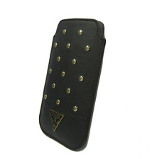Housse Etui GUESS Studded Collection Noir compatible SAMSUNG Galaxy S3 4G