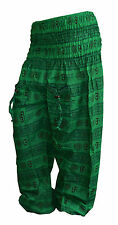 INDIAN BAGGY GYPSY HAREM PANTS YOGA MEN WOMEN COTTON OM PRINT TROUSERS YY7y