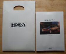 I.DE.A INSTITUTE ONE Luxury Concept Car 1999 Press Pack wth photos in env - IDEA