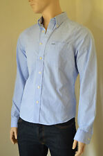 NEW Abercrombie & Fitch Kilburn Mountain Light Blue Stripe Shirt S RRP £82