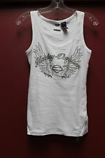 New Harley-Davidson women tank top with rhinestone white size S