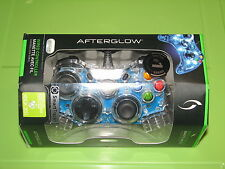 Xbox 360 Smart Track AfterGlow Wired Video Game Controller Blue MIB New 2013
