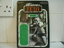 VINTAGE STAR WARS 1983 BIKER SCOUT 65 BACK PUNCHED CARD & BUBBLE 100% ORIGINAL 2