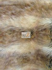 FAUX FAKE FUR ANIMAL LONG PILE COAT COSTUMES FABRIC - Canadian Fox - BY YARD