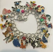 DISNEY CHARACTERS MICKEY TINKERBELL MANY MORE CHARMS HANDMADE BRACELET BELLS