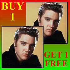 ELVIS - FUN CAR / WINDOW STICKER + 1 FREE -  BRAND NEW - GIFT/ BIRTHDAY/ XMAS