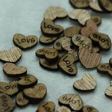 "50X  Heart Loose ""Love"" Letter Wood beads Appointment Wedding Decor Ideas New"