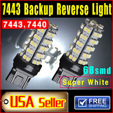 2 Pieces  Xenon White 7443 68-SMD Car Backup Reverse Lights LED Light Bulbs 7440