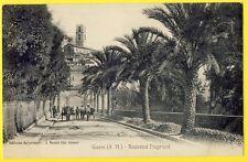 cpa 06 - GRASSE Le Boulevard FRAGONARD et la CATHÉDRALE Attelages MULETS